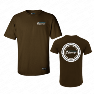 Submerge-Bankside-Double-Logo-Tshirt-Brown